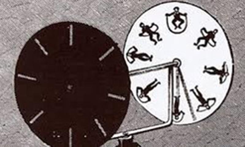 جوزف پلیٹو کی ایجاد phenakistiscope، جس نے حرکت کے التباس کو حقیقی رنگ دیا