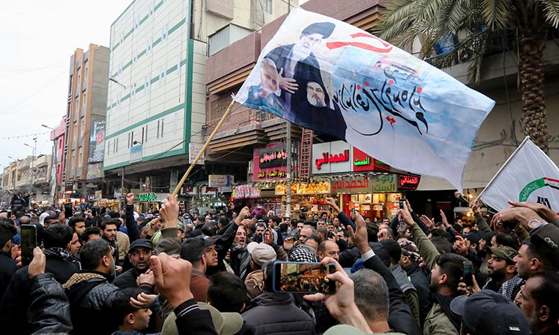 Fury, tears as thousands in Baghdad mourn Iran commander killed by US