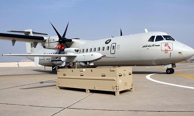 میری ٹائم پیٹرول ایئرکرافٹ اور یو اے وی کو پاکستان نیوی کے بیڑے میں شامل کردیا گیا — فوٹو: اے پی پی