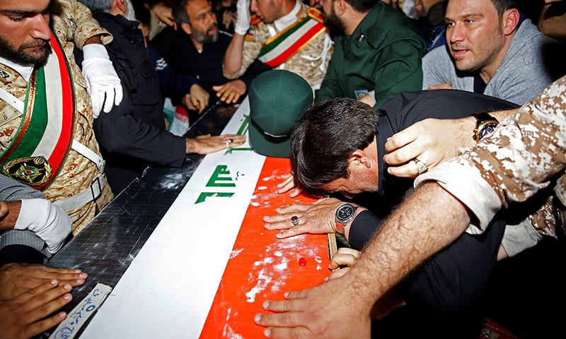 Qasem Soleimani's body returned to Iran