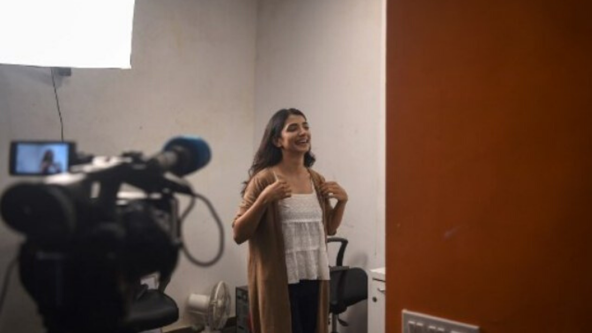 """Aspiring actress Malhaar Rathod at a studio in Mumbai. Her previous experience with what is euphemistically known as Bollywood's """"casting couch"""" culture underlines the challenges facing anyone seeking to break into India's massive, insiders-only film industry.—AFP"""