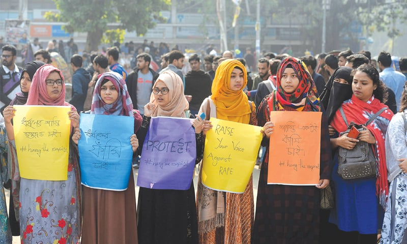 Student's rape triggers protests in Dhaka
