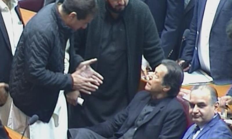 قومی اسمبلی کے اہم اجلاس میں وزیراعظم بھی شریک ہوئے—فوٹو: ڈان نیوز