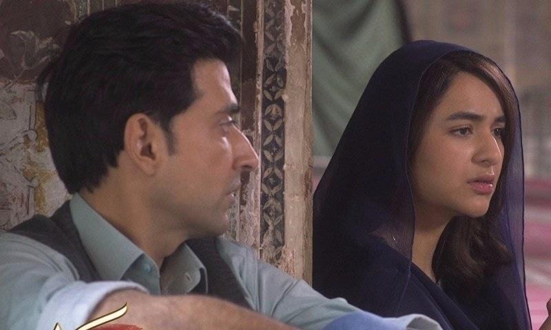 Sami Khan and Yumna Zaidi in a still from Inkaar.