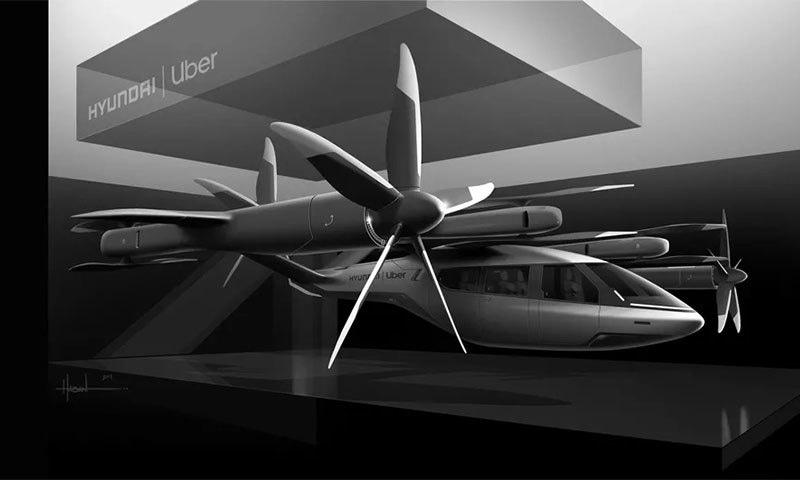 اوبر کی اڑنے والی ٹیکسی کا کانسیپٹ ڈیزائن متعارف