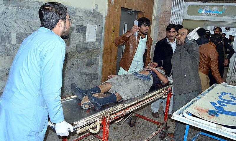 An emergency has been declared at Quetta's Civil Hospital where the injured have been taken. — APP