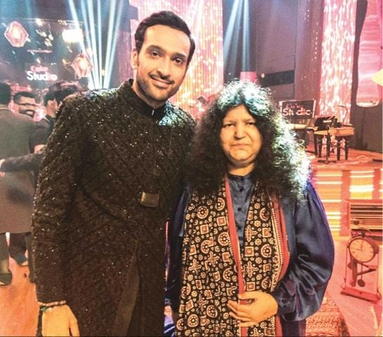 Ali Sethi and Abida Parveen after recording Aaqa