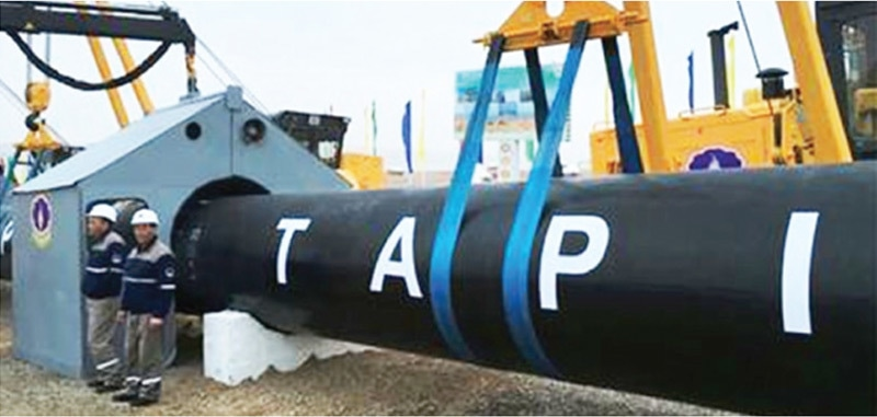 The Tapi pipeline project envisaged import of natural gas from the Galkynish and adjacent gas fields in Turkmenistan to Afghanistan, Pakistan and India.