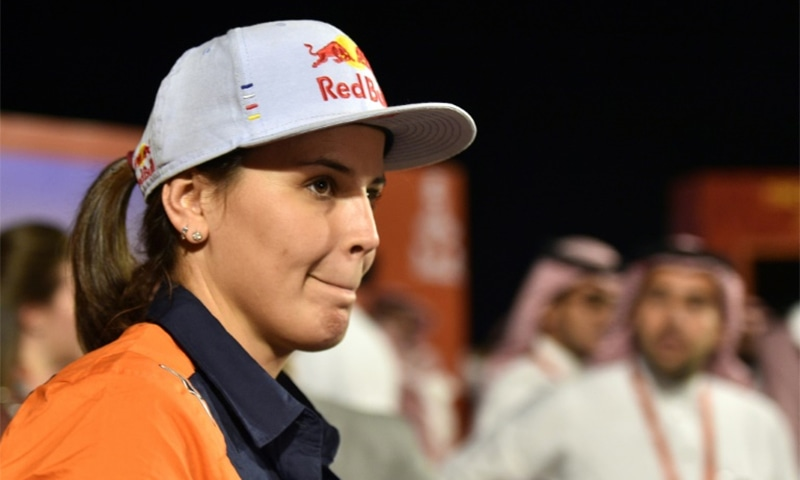 Spanish biker Laia Sanz is taking part in the rally for the 10th time. — AFP