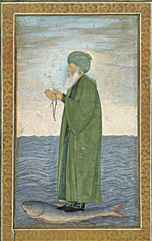 A Mughal-era painting of Al-Khizr
