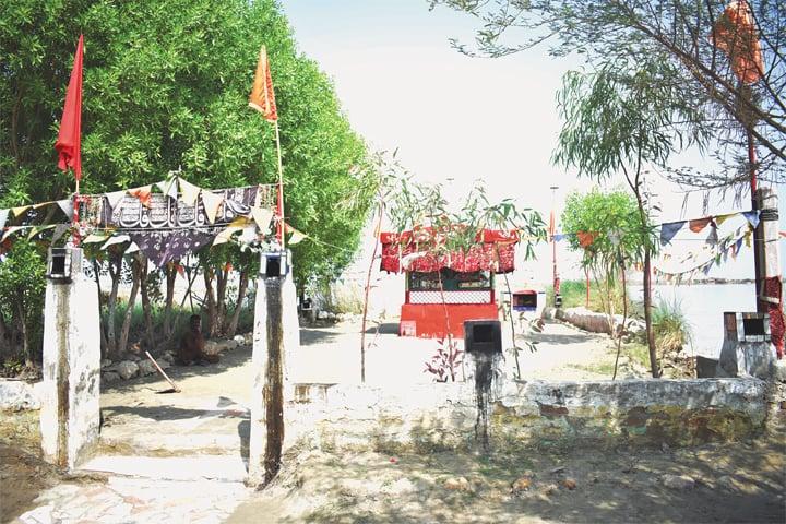 The Shrine of Khizr on the island known as Haji ka Tau | Photo by the writer