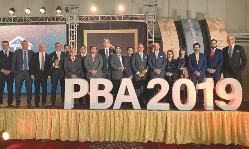 KARACHI: The Bank Alfalah Limited team at the Pakistan Banking Awards on Friday.—Dawn