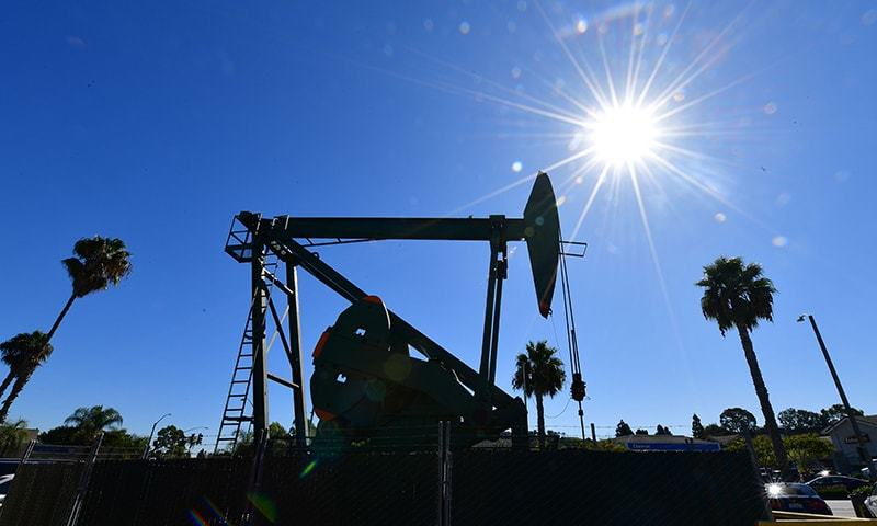 Brent crude is heading for its first weekly decline in six weeks. — AFP/File