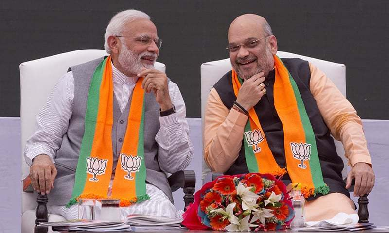 Indian Prime Minister Narendra Modi and Home Minister Amit Shah are pictured in this April 8, 2019, file photo. — AP/File