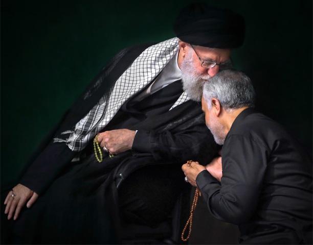 Iranian supreme leader Ayatollah Ali Khamenei kisses Qassem Soleimani's forehead in 2018 | AP