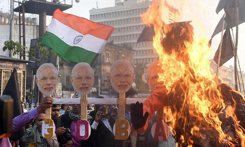 Indian protesters condemn Modi visit as citizenship law demos rage
