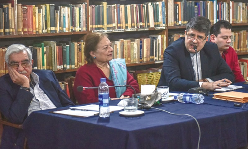 Consul General of Iran Ahmad Mohammadi speaks at the event  on Saturday.—White Star