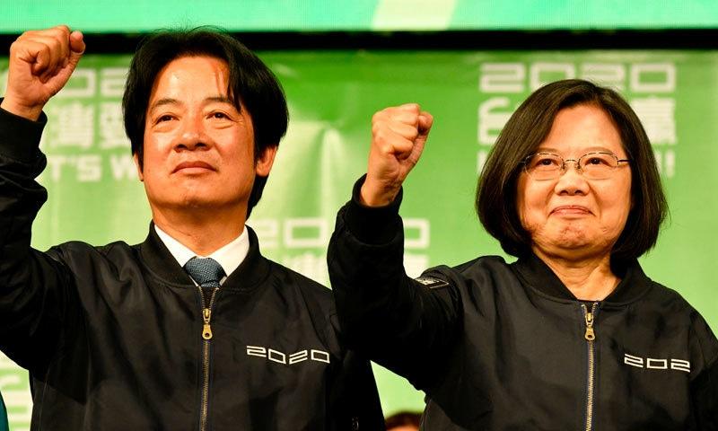 تائیوان: سائی اِنگ وین دوسری مدت کے لیے صدر منتخب