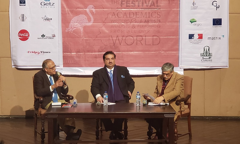 "Addressing a session titled Parliament Today at the Afkar-i-Taza ThinkFest at Alhamra on Saturday, MNA  Khurram Dastgir Khan (centre), who was defence minister in the PML-N government, said: ""If there was any pressure to vote for the Army Act, it was on our leadership, not on the parliamentarians like me.""  — PILDAT Twitter"
