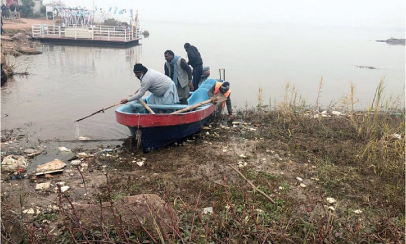 Local depts work together to clean up Rawal Dam