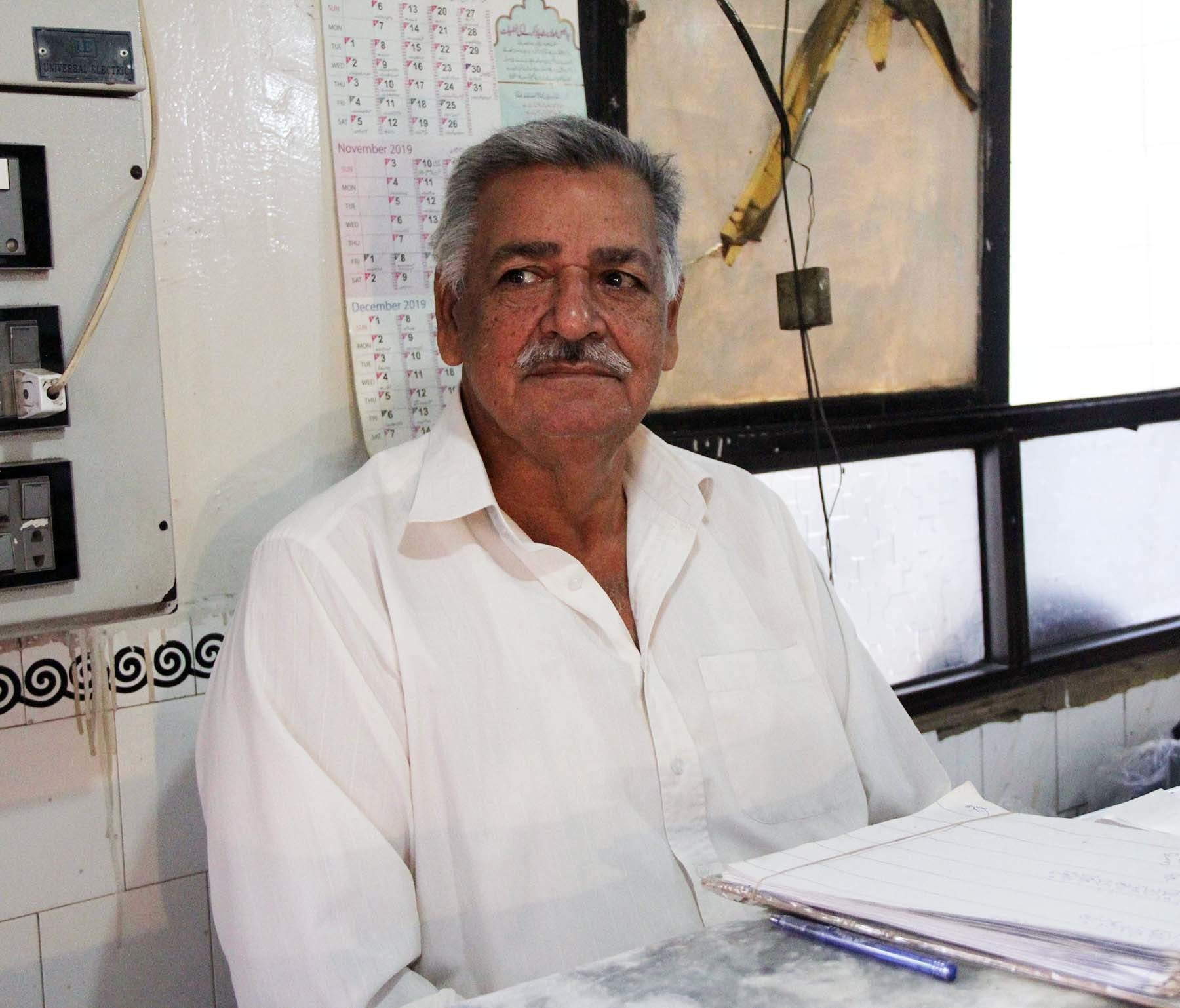 خیرآباد کے مالک حاجی عباس علی—تصویر اعجاز کورائی