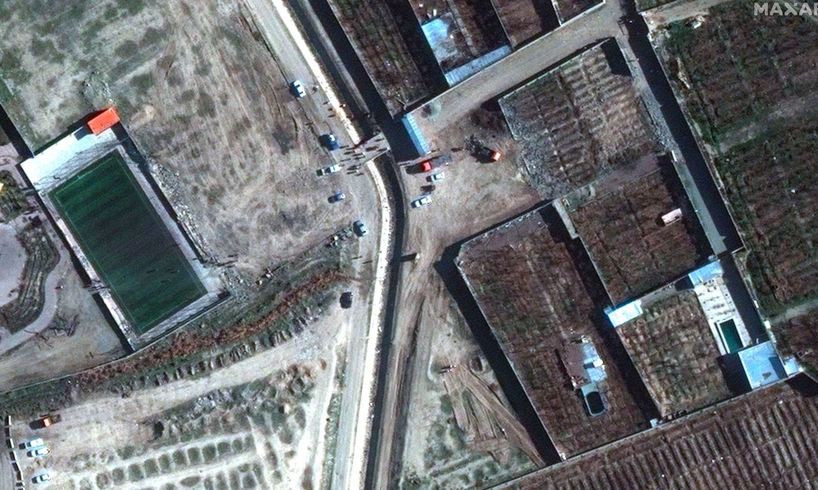 حادثے کے مقام کی سیٹلائٹ سے لی گئی ایک تصویر— فوٹو: اے پی