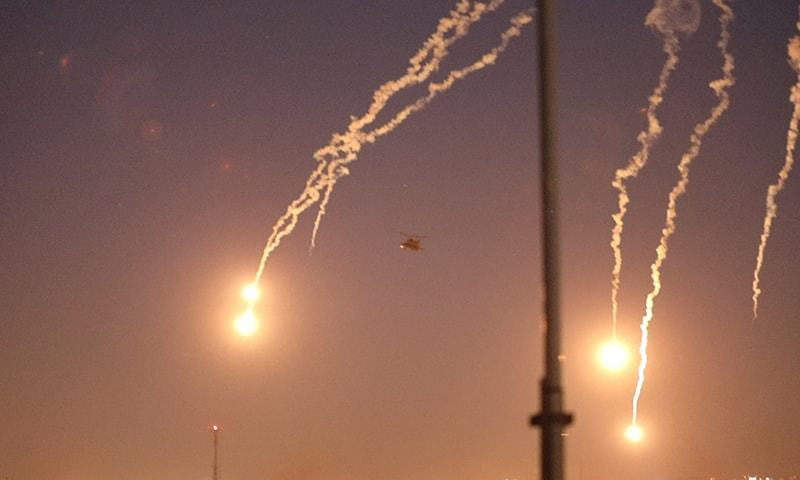 Eight rockets landed on Al-Balad airbase, wounding two Iraqi officers and two airmen: statement. — Reuters/File