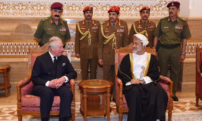 King meets with Oman Sultan Haitham, condoles death of Qaboos