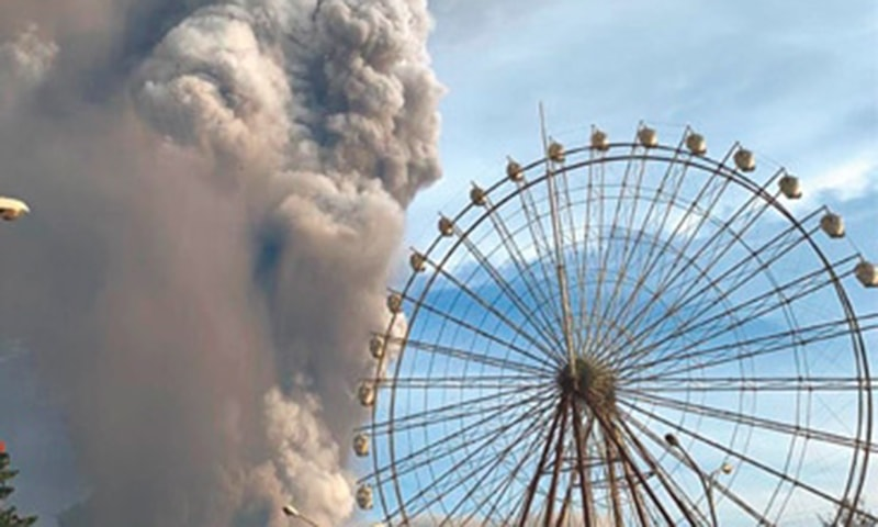 Philippine volcano halts flights, forces evacuations