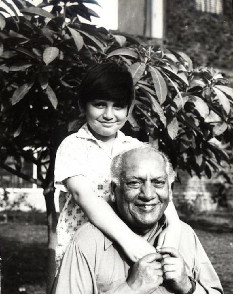 Faiz with his grandson