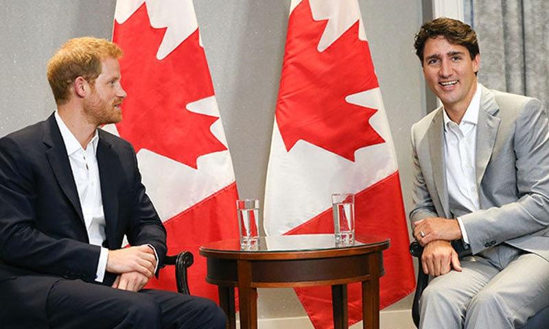 جسٹن ٹروڈو کے مطابق شاہی جوڑے کی کینیڈا منتقلی پر عوام خوش ہوگا — فائل فوٹو: ہیلو میگزین