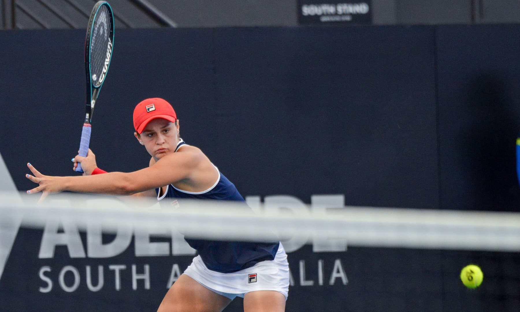 Ashleigh Barty of Australia during the women's second round singles match at the Adelaide International tennis tournament on Jan 14. — AFP