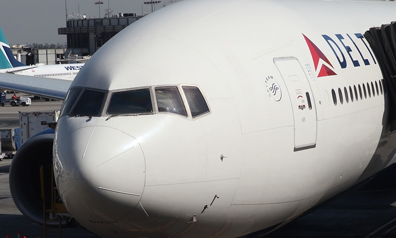 Delta Air Lines Flight 89 to Shanghai reported an engine problem only minutes after takeoff. — AFP