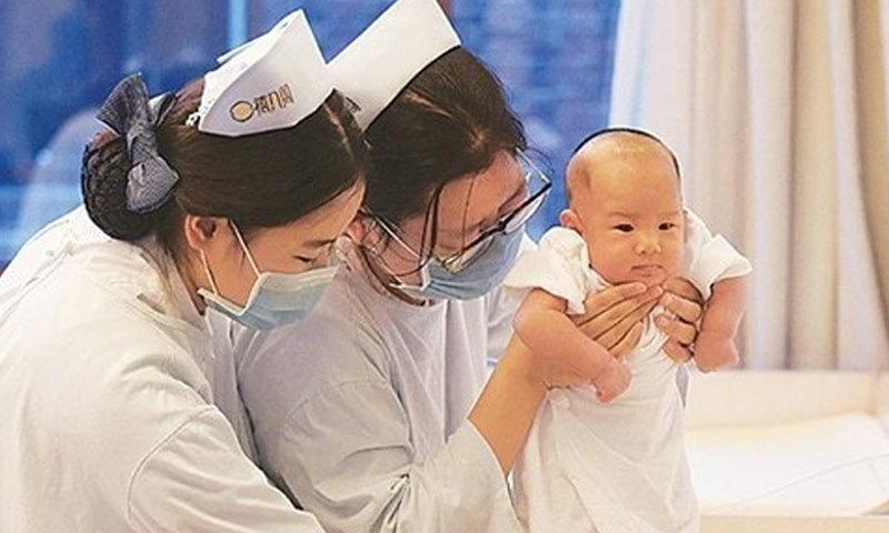 سال 2018 میں چین میں ایک کروڑ 52 لاکھ بچے پیدا ہوئے تھے—فائل فوٹو: ٹوئٹر