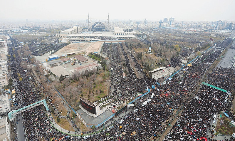 THE picture released by the official website of Iran's supreme leader Ayatollah Ali Khamenei shows thousands of worshippers attending Friday prayers in Tehran that were led by him.—AP