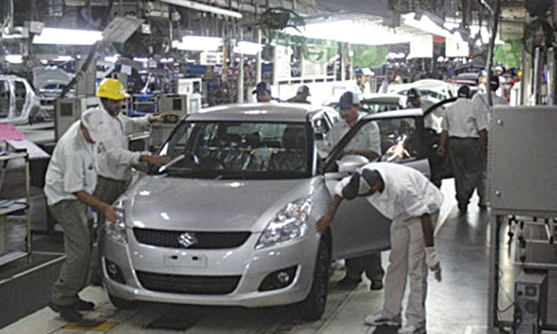 The manufacturing data for November showed automobile production declined by a massive 45pc as the country's assemblers have brought down the total number of production days amid shrinking overall demand.