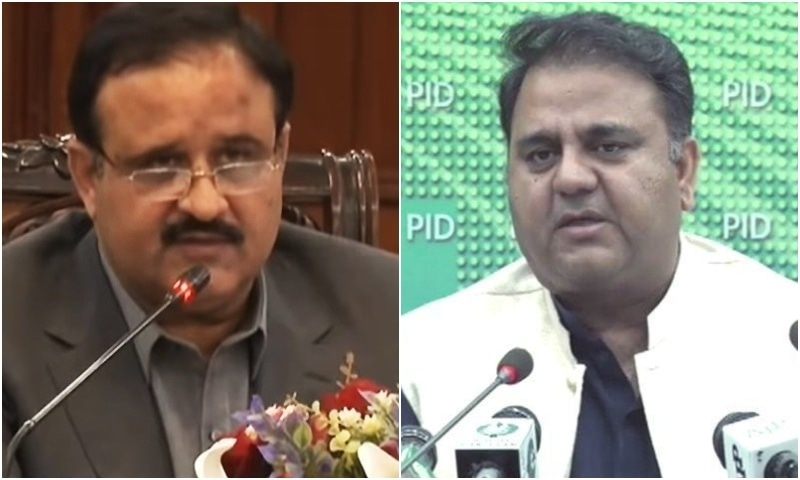 "Federal Minister for Science and Technology Fawad Chuadhry, who is known for his blunt remarks — has written a letter to the prime minister, raising questions over performance of his [PM's] protege and chief minister of Punjab Usman Buzdar and saying the provincial government was giving a bad name to the ruling PTI due to its ""poor"" performance. — Photos courtesy DawnNewsTV"