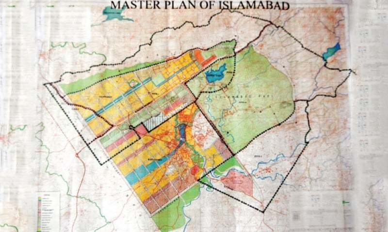 The master plan of Islamabad 1960 witnessed 43 major amendments by successive governments without an input from any independent commission of experts, Dawn has learnt. — File