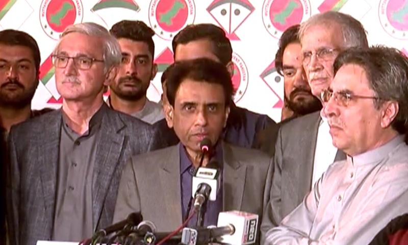 MQM-P convener Khalid Maqbool Siddiqui addresses a press conference in Karachi on Saturday. — DawnNewsTV