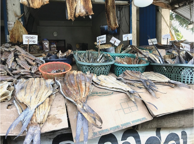 Smoked fish in the market   Photo by the writer