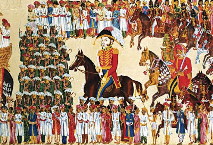 An official of the East India Company riding in an Indian procession. The British saw civilian supremacy as an obvious and desirable aspect of governance | Encyclopaedia Britannica