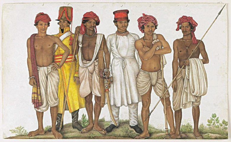 Six Recruits (1815), Ghulam Ali Khan, courtesy the Wallace Collection