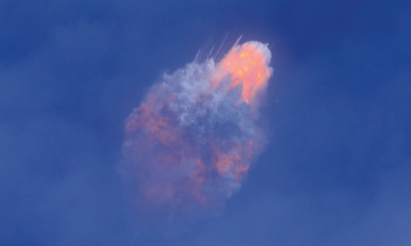 Cape Canaveral (Florida, US): A SpaceX Falcon 9 rocket engine self-destructs after jettisoning the Crew Dragon astronaut capsule during an in-flight abort test, a key milestone before flying humans in 2020 under Nasa's commercial crew programme, after lift off from the Kennedy Space Centre on Sunday.—Reuters