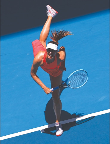 MARIA Sharapova of Russia in action during her first-round match against Croatia's Donna Vekic at the Australian Open on Tuesday.—Reuters