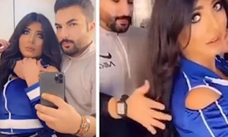 پولیس کے مطابق جوڑے نے جان بوجھ کر بولڈ انداز میں ویڈیو بنائی — اسکرین شاٹ