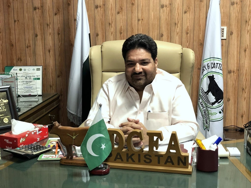 Shakir Umar Gujjar, the president of the Dairy and Cattle Farmers Association, is deeply excited about the project—*Image by Zofeen T. Ebrahim*