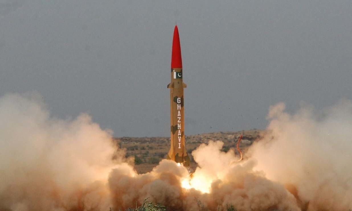 Ghaznavi is capable of delivering multiple types of warheads up to a range of 290 kilometres. — ISPR