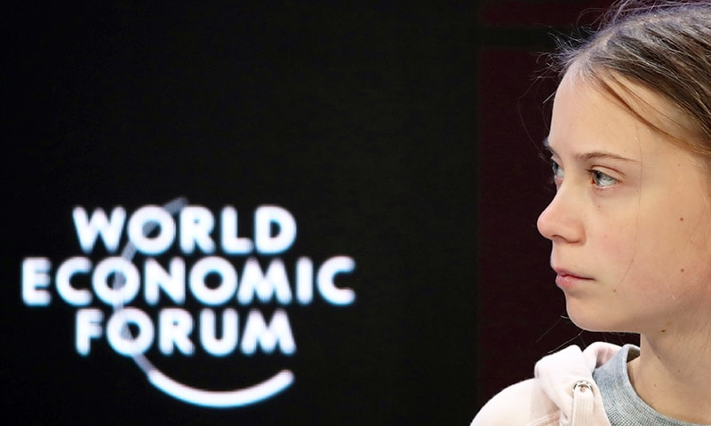 Swedish climate change activist Greta Thunberg attends a session at the 50th World Economic Forum (WEF) annual meeting in Davos, Switzerland, January 21. — Reuters