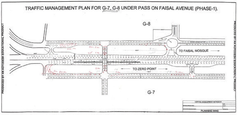 The layout and the diversion plan of the underpass project.