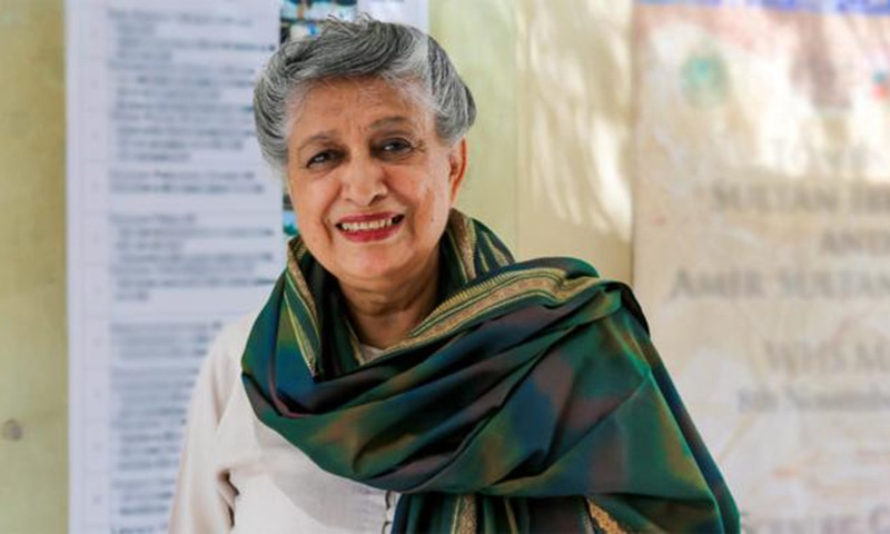 Yasmeen Lari is Pakistan's first-ever female architect. Her creations include Karachi's FTC building and PSO House. — Photo courtesy: Fukuoka Prize website